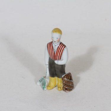 Arabia figuuri, käsinmaalattu, suunnittelija Anja Juurikkala, käsinmaalattu, pieni