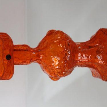 Riihimäen lasi Candida maljakko, oranssi, suunnittelija Nanny Still, suuri, retro