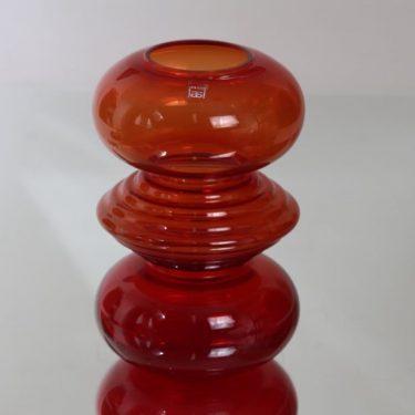 Riihimäki glass Tiimalasi vase, red, Nanny Still