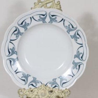 Arabia Oiva lautanen, syvä, suunnittelija , syvä, kuparipainokoriste, jugend