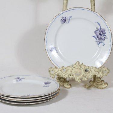 Arabia AS plates, flower decoration, 5 pcs, small, silk screening