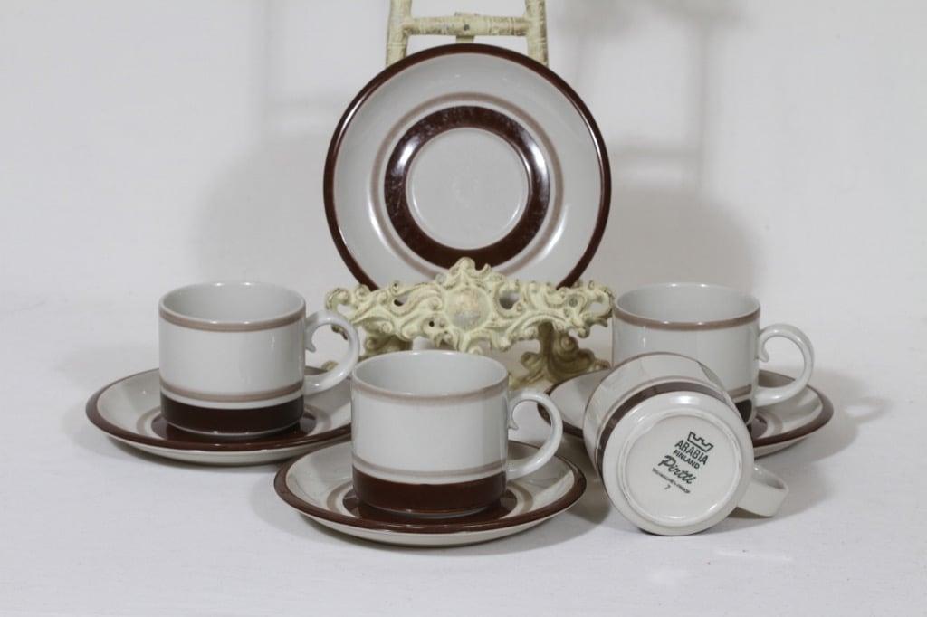 Arabia Pirtti coffee cup, 4 pcs, Raija Uosikkinen
