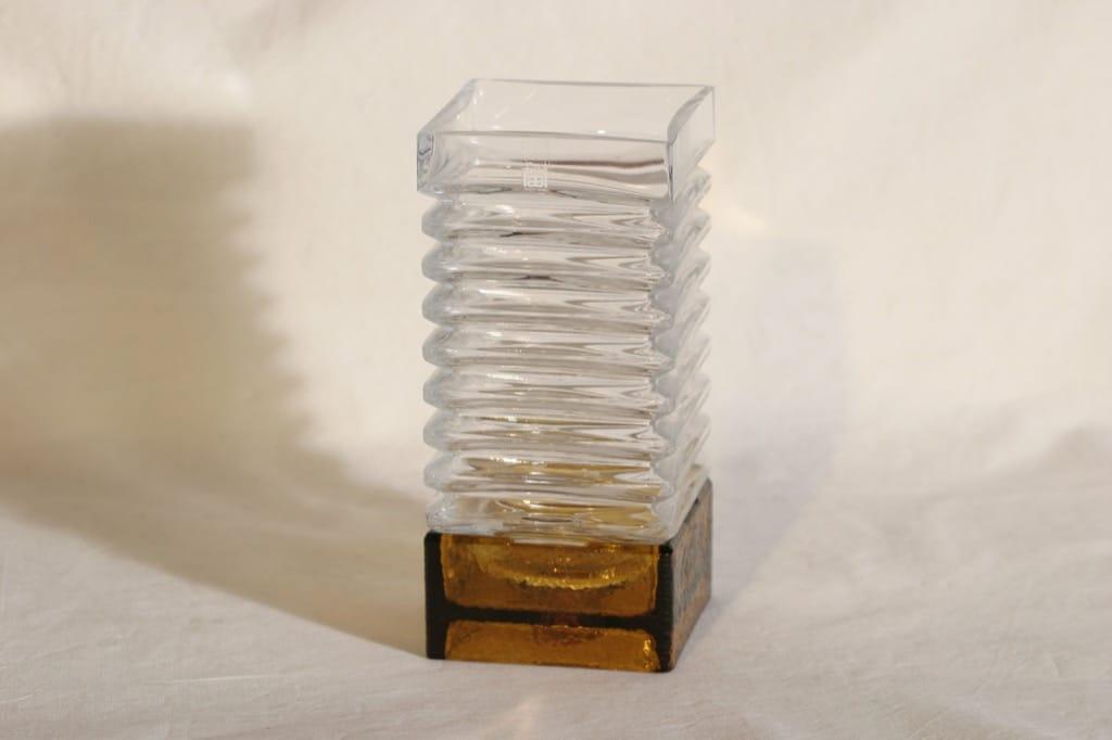 Riihimäen lasi Harmonikka kynttilänjalka, 2-osainen, suunnittelija Tamara Aladin, 2-osainen