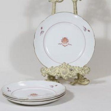 Arabia Näkki lautaset, pieni, 4 kpl, suunnittelija Tyra Lungren, pieni, siirtokuva