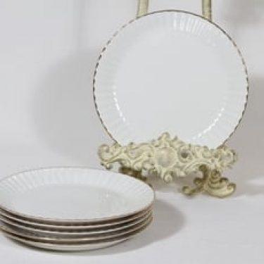Arabia kultakorva leivoslautaset, 6 kpl, suunnittelija , kultakoriste