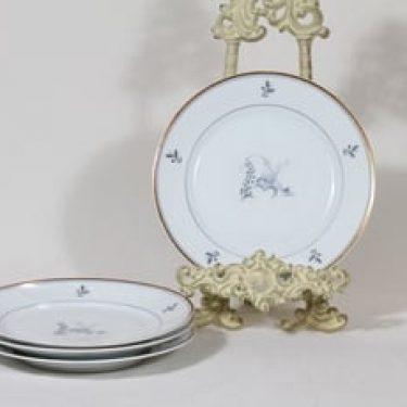 Arabia Mökki lautaset, pieni, 4 kpl, suunnittelija Rainer Baer, pieni, painokuva
