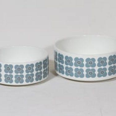 Arabia Veera kulhot, eri kokoja, 2 kpl, suunnittelija Esteri Tomula, eri kokoja, serikuva, retro
