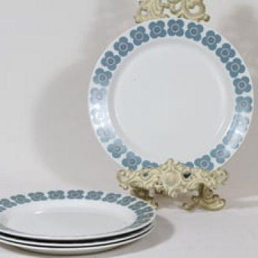 Arabia Veera lautaset, matala, 4 kpl, suunnittelija Esteri Tomula, matala, serikuva, retro