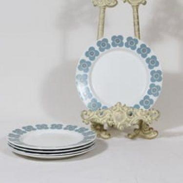 Arabia Veera lautaset, pieni, 5 kpl, suunnittelija Esteri Tomula, pieni, serikuva, retro