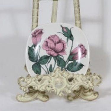 Arabia Rosa koristelautanen, Rosa lapponia, suunnittelija Esteri Tomula, Rosa lapponia, pieni, serikuva