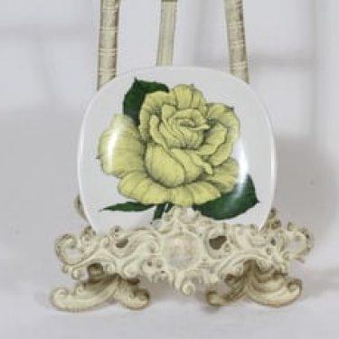Arabia Rosa koristelautanen, Rosa ever gold, suunnittelija Esteri Tomula, Rosa ever gold, pieni, serikuva