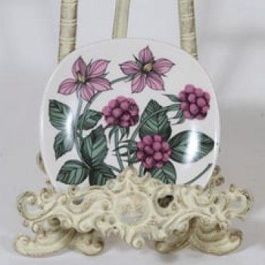 Arabia Botanica koristelautanen, Mesimarja, suunnittelija Esteri Tomula, Mesimarja, pieni, serikuva