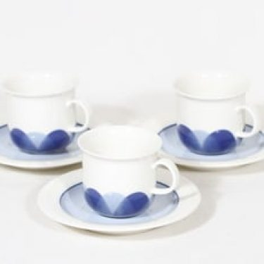 Arabia Arctica kahvikupit, 3 kpl, suunnittelija Inkeri Leivo, serikuva