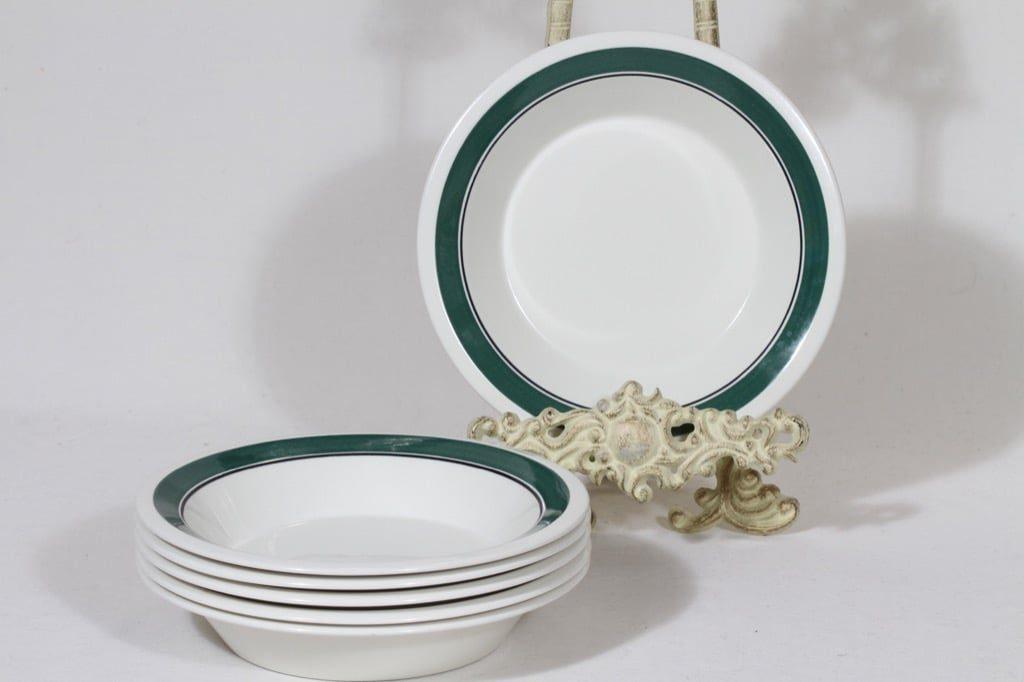 Arabia Kirsikka lautaset, syvä, 6 kpl, suunnittelija Inkeri Seppälä, syvä, serikuva