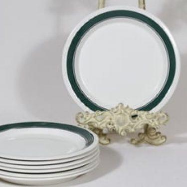 Arabia Kirsikka lautaset, matala, 7 kpl, suunnittelija Inkeri Seppälä, matala, serikuva