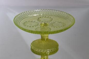 Riihimäen lasi Grapponia leivosvati, jalallinen, suunnittelija Nanny Still, jalallinen
