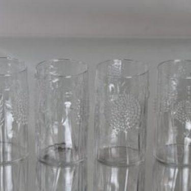 Nuutajärvi Flora lasit, 35 cl, 4 kpl, suunnittelija Oiva Toikka, 35 cl