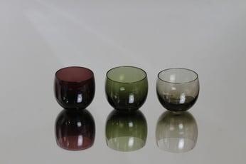 Nuutajärvi Marja lasit, 10 cl, 3 kpl, suunnittelija Saara Hopea, 10 cl, pieni