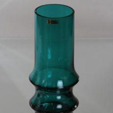 Riihimäen lasi Reimari maljakko, turkoosi, suunnittelija Tamara Aladin,