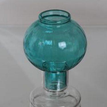 Riihimäen lasi Tuikku kynttilälyhty, turkoosi, suunnittelija Nanny Still,