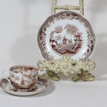 Arabia Singapore kahvikuppi ja lautanen, ruskea, suunnittelija ,