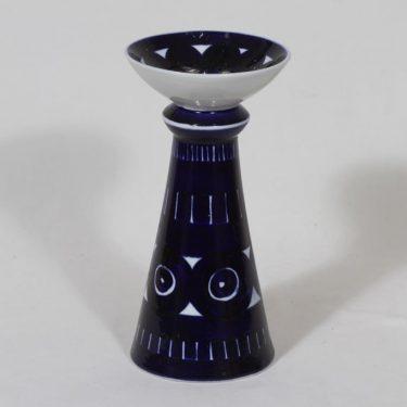 Arabia Valencia kynttilänjalka, käsinmaalattu, suunnittelija Ulla Procope, käsinmaalattu, suuri, signeerattu