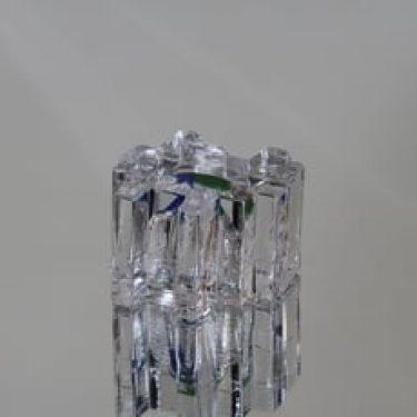 Riihimäen lasi Forest taidelasi, kirkas, suunnittelija Helena Tynell, pieni, kirkas, monivärinen