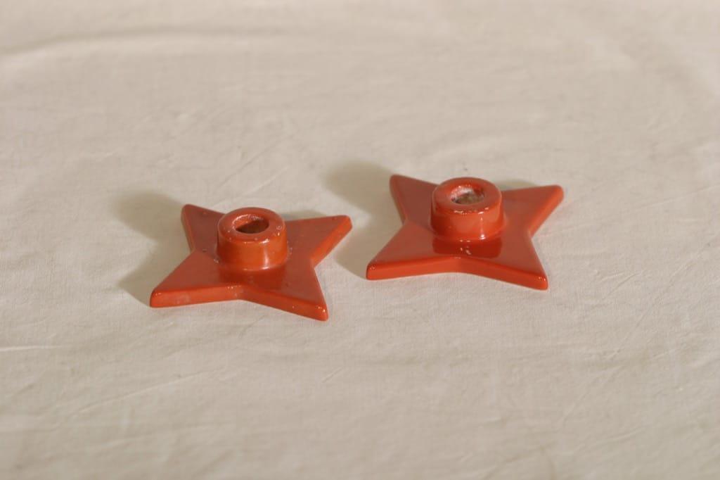 Arabia kyntilänjalat, Joulutähti-malli, 2 kpl, suunnittelija , Joulutähti-malli