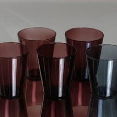 Nuutajärvi Viola lasit, eri värejä, 5 kpl, suunnittelija Kaj Franck,