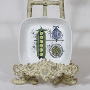 Arabia Vegeta kulho, käsinmaalattu, suunnittelija Esteri Tomula, käsinmaalattu, painettu, retro