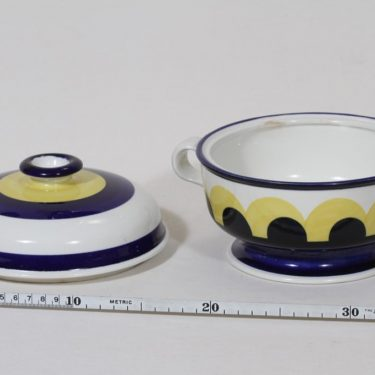 Arabia Paju soup bowl, 1.08 l, designer Anja Jaatinen-Winqvist, hand-painted, signed, retro, 2