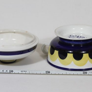 Arabia Paju soup bowl, 1.08 l, designer Anja Jaatinen-Winqvist, hand-painted, signed, retro, 4