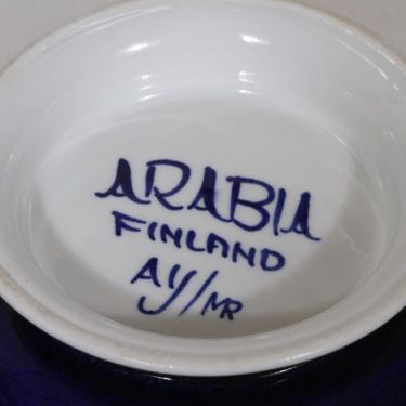 Arabia Paju soup bowl, 1.08 l, designer Anja Jaatinen-Winqvist, hand-painted, signed, retro, 5