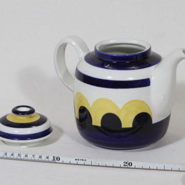 Arabia Paju kahvikaadin, käsinmaalattu, suunnittelija Anja Jaatinen, käsinmaalattu, signeerattu, retro kuva 2