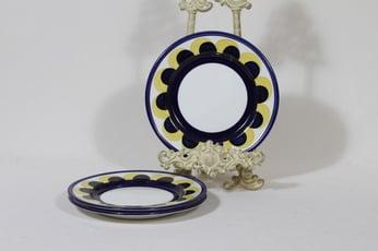 Arabia Paju lautaset, pieni, 3 kpl, suunnittelija Anja Jaatinen, pieni, käsinmaalattu, signeerattu, retro
