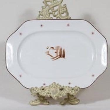 Arabia Orient vati, suunnittelija Rainer Baer, suuri, painettu koriste, art deco