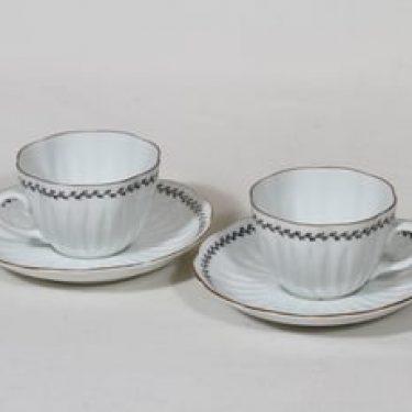 Arabia Varpu kahvikupit, 2 kpl, suunnittelija Raija Uosikkinen, ornamenttikoriste