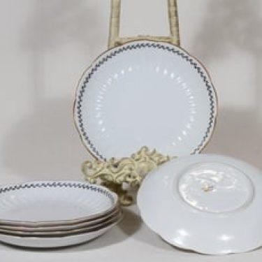 Arabia Varpu leivoslautaset, 6 kpl, suunnittelija Raija Uosikkinen, ornamenttikoriste