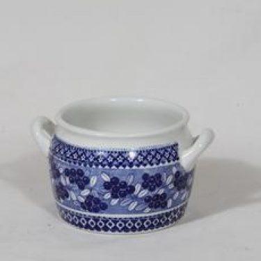 Arabia Puolukka ruukku, sininen, suunnittelija , kuparipainokoriste