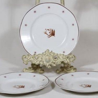 Arabia Orient lautaset, 3 kpl, suunnittelija , pieni, painettu, art deco
