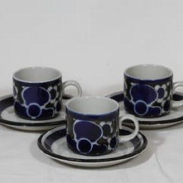 Arabia Saara kahvikupit, 3 kpl, suunnittelija Anja Jaatinen-Winquist, erikoiskoriste