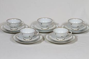 Arabia Apila kahvikupit ja lautaset, 5 kpl, suunnittelija , painokoriste