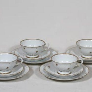 Arabia Apila kahvikupit ja lautaset, 4 kpl, suunnittelija , painokoriste