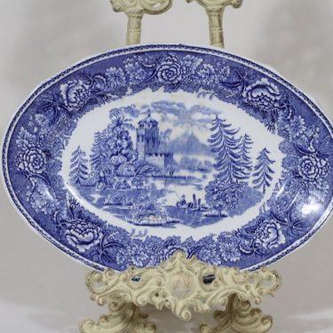 Arabia Maisema vati, sininen, suunnittelija , pieni, kuparipainokoriste