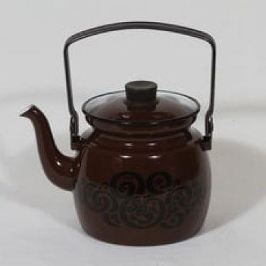 Finel Orient kahvipannu, 1 l, suunnittelija Raija Uosikkinen, 1 l, serikuva, retro