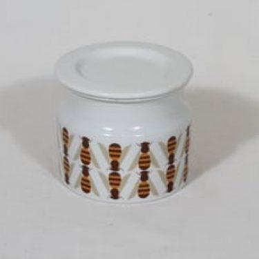 Arabia Pomona purnukka, hunaja, suunnittelija Raija Uosikkinen, hunaja, suuri, serikuva, retro