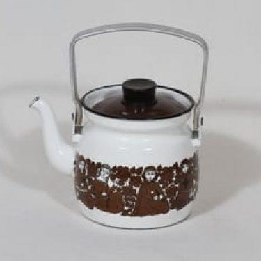 Finel Ritari kahvipannu, 0.6 l, suunnittelija Raija Uosikkinen, 0.6 l, pieni, serikuva