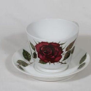 Arabia Ruusu kuppi, 50 cl, suunnittelija Anneli Qveflander, 50 cl, suuri, serikuva