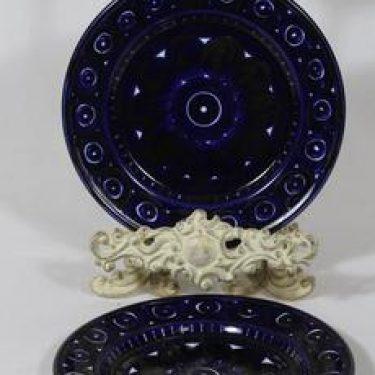Arabia Valencia lautaset, signeerattu, 2 kpl, suunnittelija Ulla Procope, signeerattu, pieni, käsinmaalattu