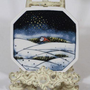 Arabia koristelautanen, Christmas, suunnittelija Heljä Liukko-Sundström, Christmas, pieni, serikuva